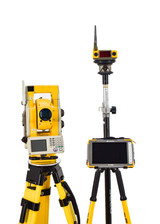 """Topcon QS3A 3"""" Robotic Total Station w/ FC-5000 Magnet Software, and RC-4R"""