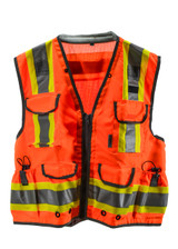 Reflective Orange Safety Vest w/ YKK Zipper