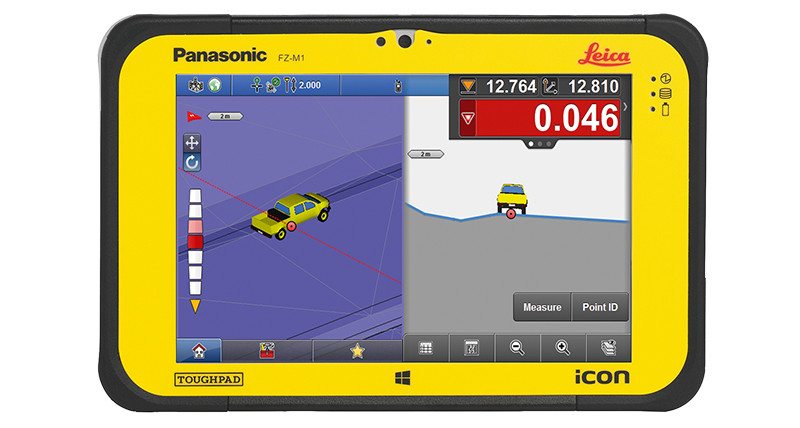 "Leica iCON CC80 7"" Panasonic Rugged Tablet Kit w/ iCON Build Plus Software"