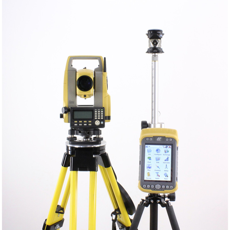 Topcon ES-102 Manual Total Station Kit w/ Tesla Tablet & Magnet Field Software