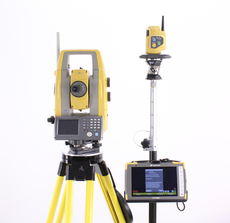 Topcon PS-105A Robotic Total Station w/ FC-5000 Tablet & Magnet Field Software