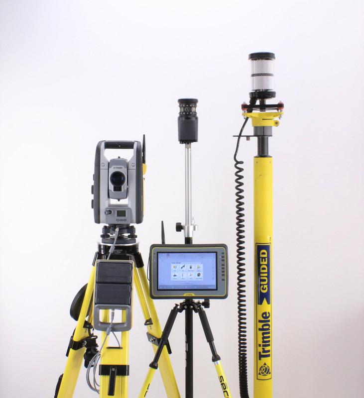 Trimble SPS730 Robotic Total Station w/ Kenai Tablet, SCS900 & Siteworks Software MT900, EM400 Mast