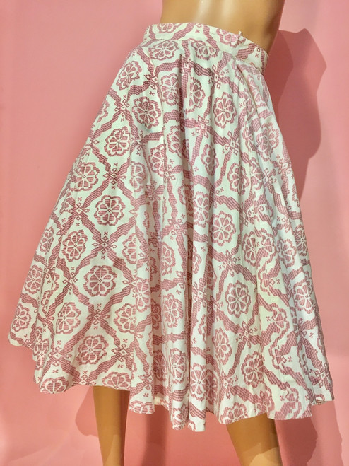 1950's Ried & Ried Floral Swing  Skirt