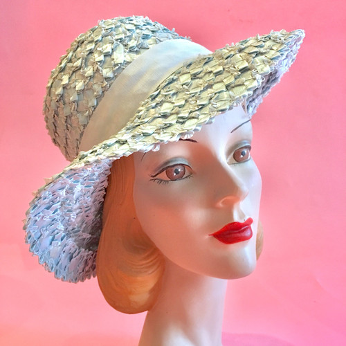 Macy's Straw And Ribbon Brim Hat