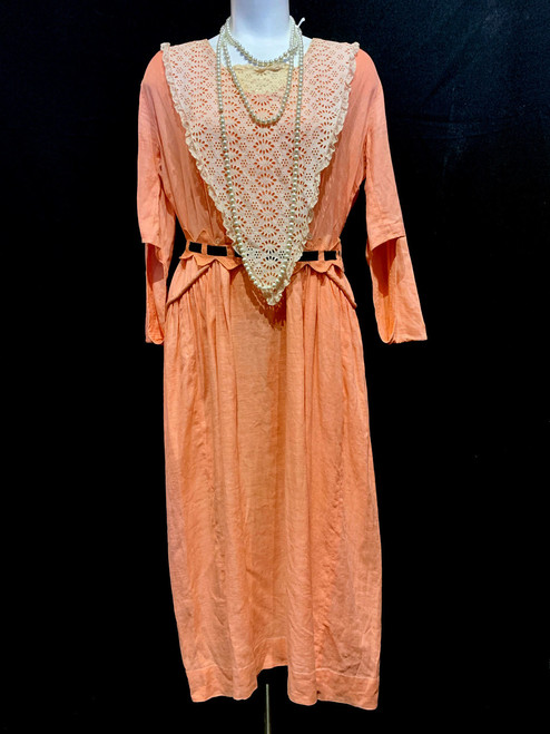 1920's Linen Lace Collar Belted Dress (From Z The Beginning Of Everything)