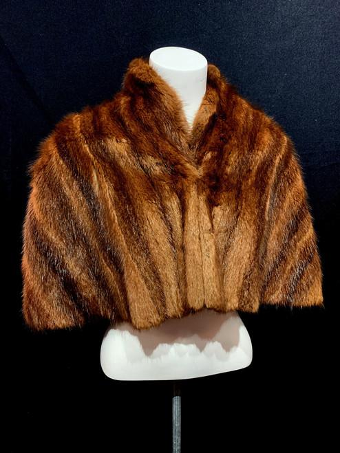 Mid Century Muskrat Fur Caplet