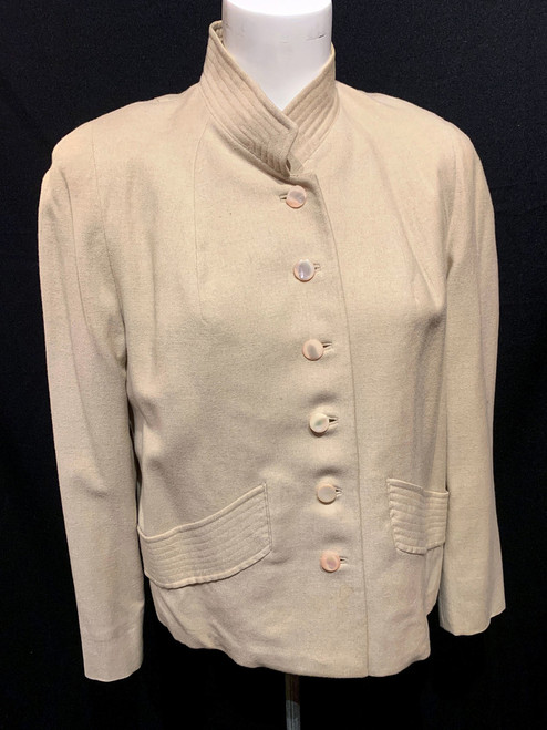 Russeks Mid Century Wool Mother Of Pearl Button Jacket