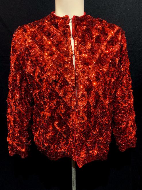 1950's-60's Wool Sequin Cardigan Sweater