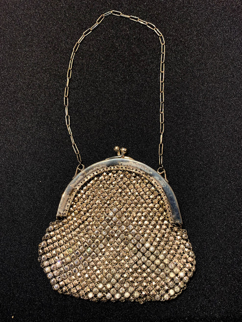 1920's Metal Mesh & Rhinestone Bag
