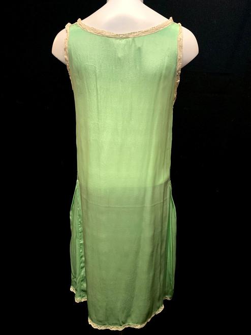 e9fd6f9faf5afc 1920 s Lace Trim Silk Slip Dress - Paper Doll Vintage Boutique