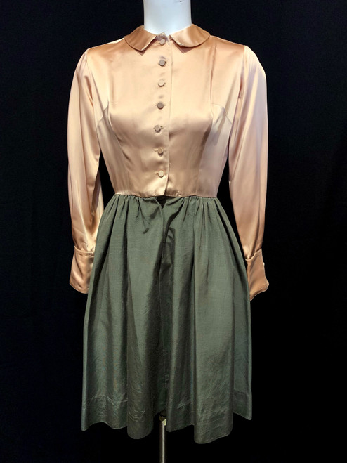 1950's Heather Sportswear Satin Top Fille Skirt Dress
