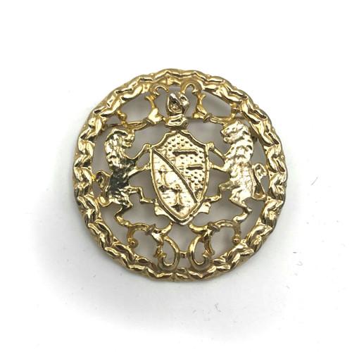 1970s-80s Lion Crest Brooch