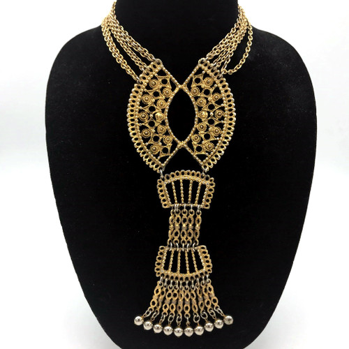 1970s Multi Layered Tassel Necklace