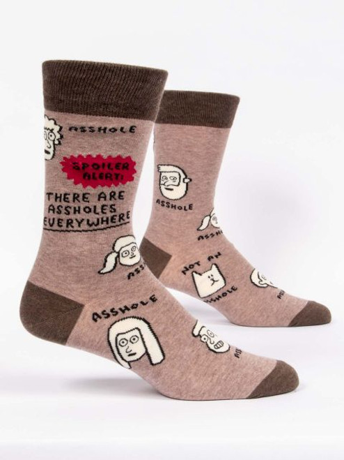 Assholes Are Everywhere Men's Crew Socks