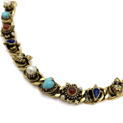 1970s - 80s Multicolor Cabochon Stone Bracelet