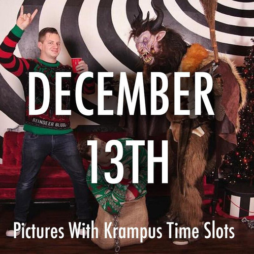 Pictures With Krampus December 13th Time Slots