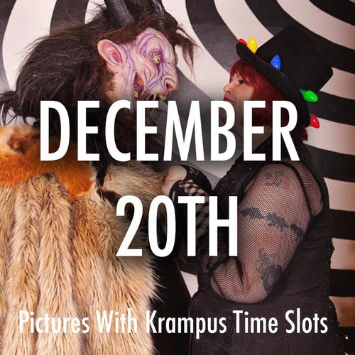 Pictures With Krampus December 20th Time Slots