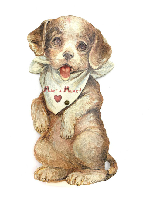 Victorian Inspired Kinetic Puppy Valentine Card