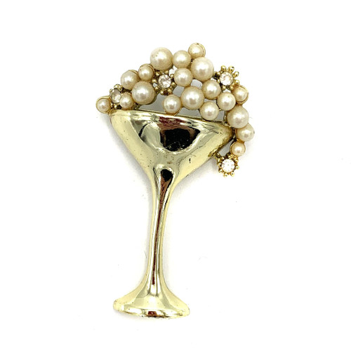 1950s Martini Brooch