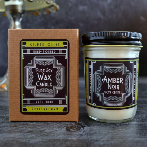 Soy Candle - Amber Noir
