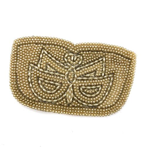 1930s - 40s Pearl Beaded Zip Top Clutch