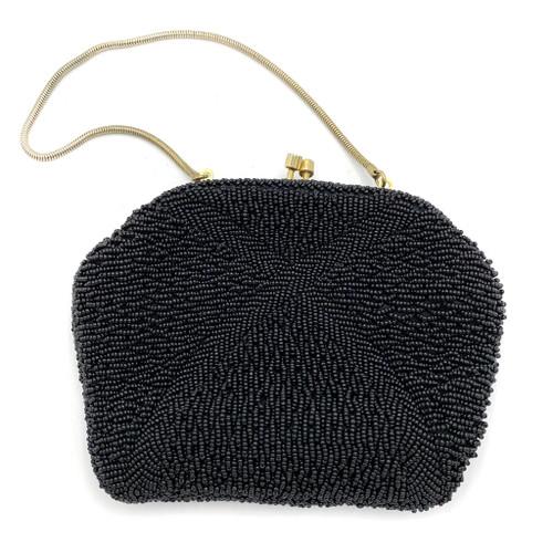 Mid Century Beaded X Detail Handbag