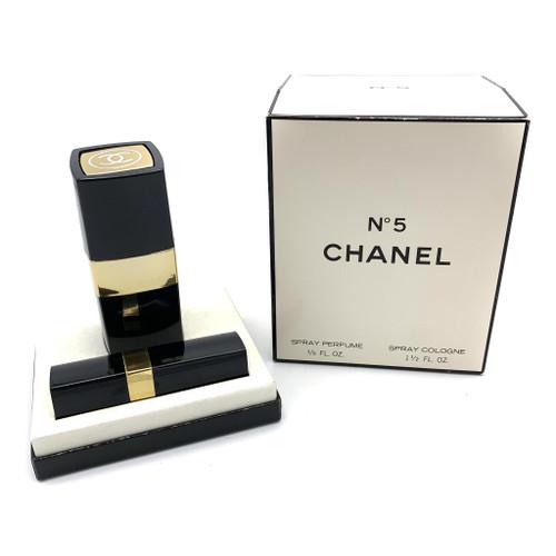 1990s CHANEL No. 5 Spray Cologne & Atomizer Perfume Box SET