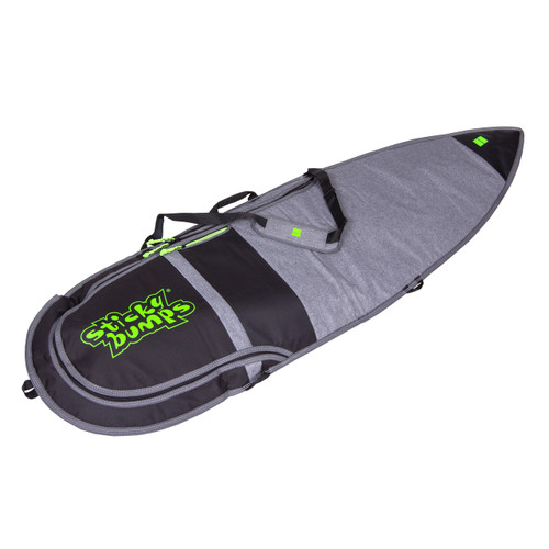 sticky bumps dayrunner single board bag grey and black