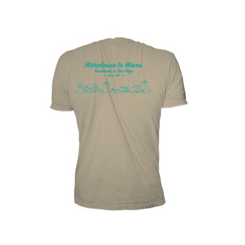Sticky Bumps Short Sleeve T-Shirt back | Waves Sand