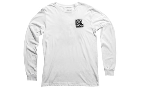 Stick Bumps Long Sleeve T-Shirt Zombie | White