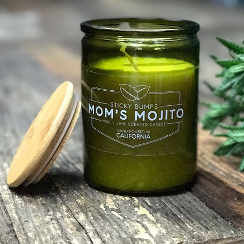 moms mojito 10 ounce candle lime mint scent