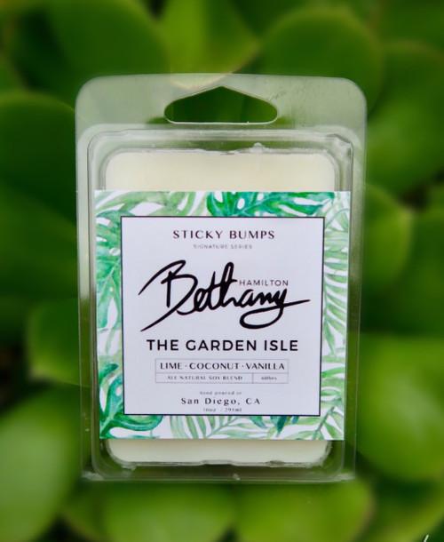 Bethany Hamilton Garden Isle Wax Melt | Lime+Coconut+Vanilla 2.5oz Clamshell
