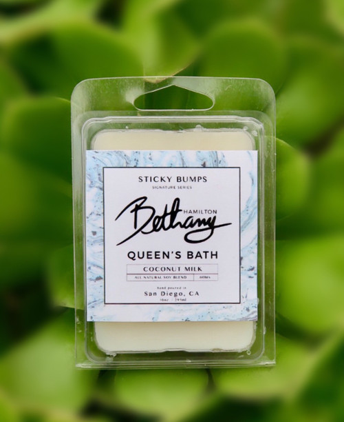 bethany hamilton queens bath 2.5 ounce wax melt top