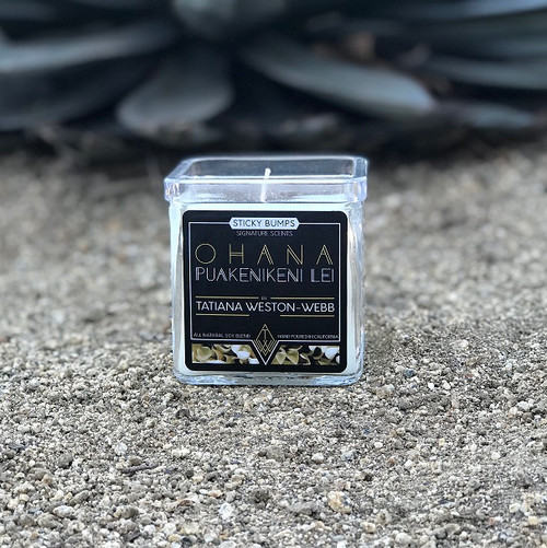 tatiana weston webb 7 ounce candle puakenikeni lei scent