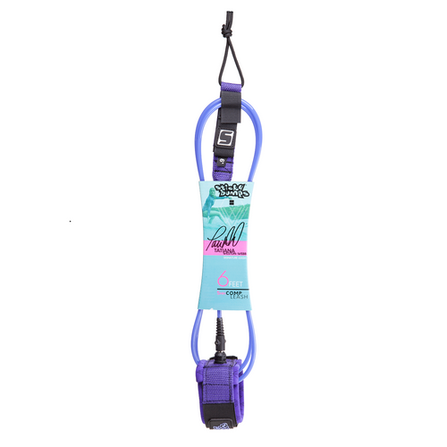 tatiana weston webb signature 6 foot comp leash purple