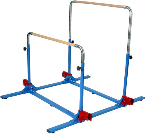 The 5-in-1 Complete Bar System set up as mini uneven bars