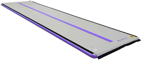 The 6M Air Floor is approximately 20 ft and is available in blue and purple. Purple shown here.