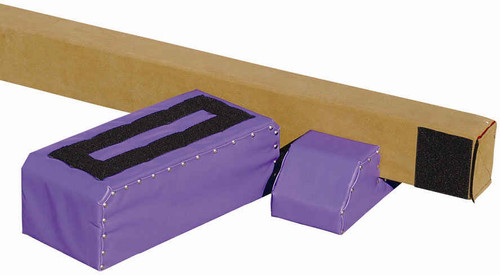 The Brianna Beam legs include Velcro on the top and bottom for a secure fit to the beam and the floor!