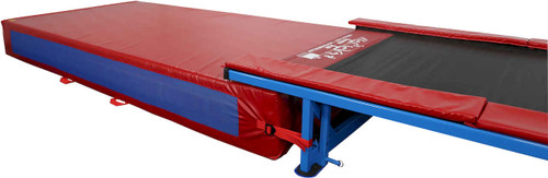 This 18in Mat is the exact height to fit snugly under the Tumbl Trak closing any gap between the Trak and the Mat.