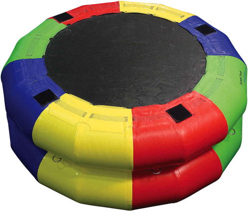 5ft Fitness Wheel with both rings inflated (shown with closed end up)