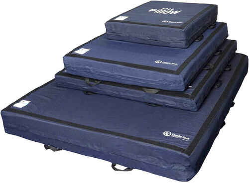 The Pit Pillow is available in four different sizes.  All sizes ship by FedEx or UPS.