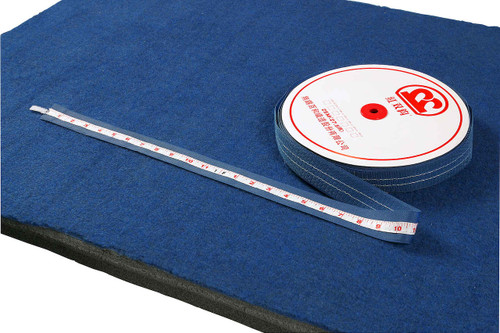 No more fuss!  The Velcro Tape Measure stays put on carpet bonded foam.