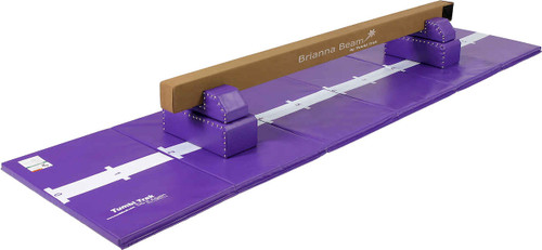 Purple Brianna Beam with leg Risers and Purple Hopscotch Mat