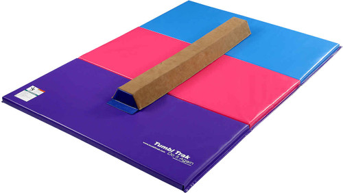 Sectional Beam with 4ft x 6ft Bright Pastel Tumbling Mat