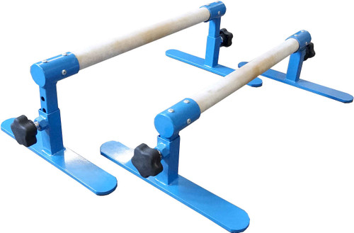 Use the D-2 Knobs to easily adjust the Parallettes to 3 different heights