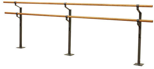 Double Floor Mounted Ballet Barre