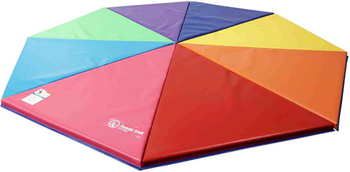 Kids will gravitate toward the colorful configuration of this mat!