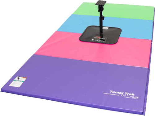 The FlyRight and Tumbling Mat provide a safe space for stunt training.