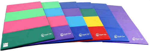 4ft x 8ft Mat color selections (from left to right:  Watermelon, Bright Pastel, Blueberry, Primary Rainbow, Royal Blue, and Purple)