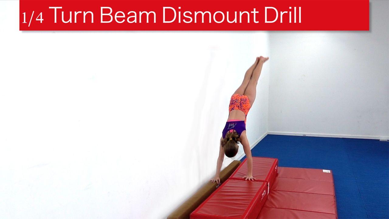 Play Video - 1/4 Turn Beam Dismount Drill